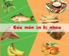 Top 10 Loại thực phẩm kỵ nhau, các mẹ nên lưu ý